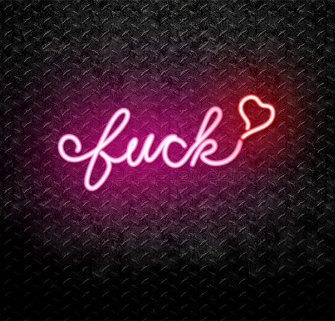 Fuck Love Neon Sign