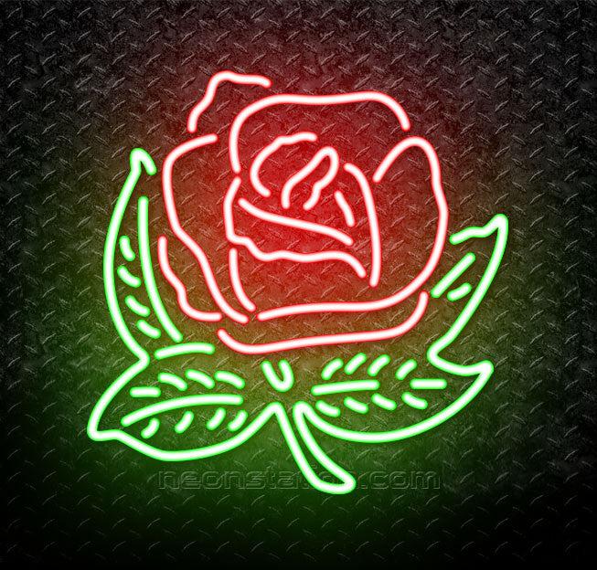 Alpha Omicron Pi Rose Neon Sign