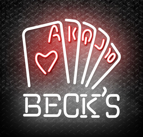 Becks Poker Series Neon Sign