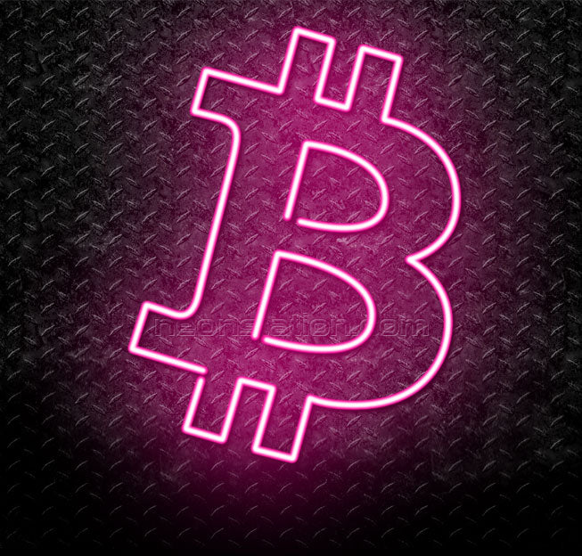 Bitcoin Logo Cryptocurrency Neon Sign
