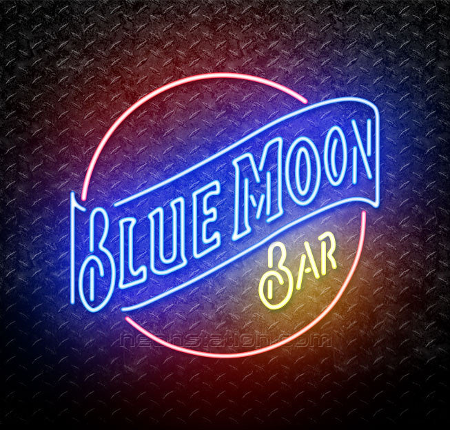 Blue Moon Bar Neon Sign
