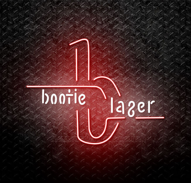 Bootie Lager Budweiser Neon Sign