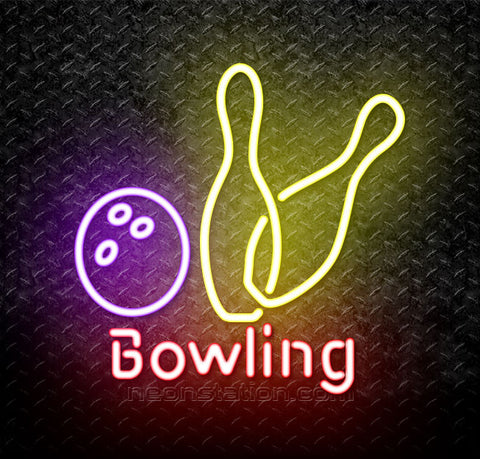 Bowling and Pin Neon Sign