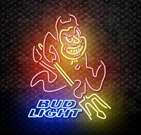 Bud Light ASU Arizona State Sun Devils Neon Sign