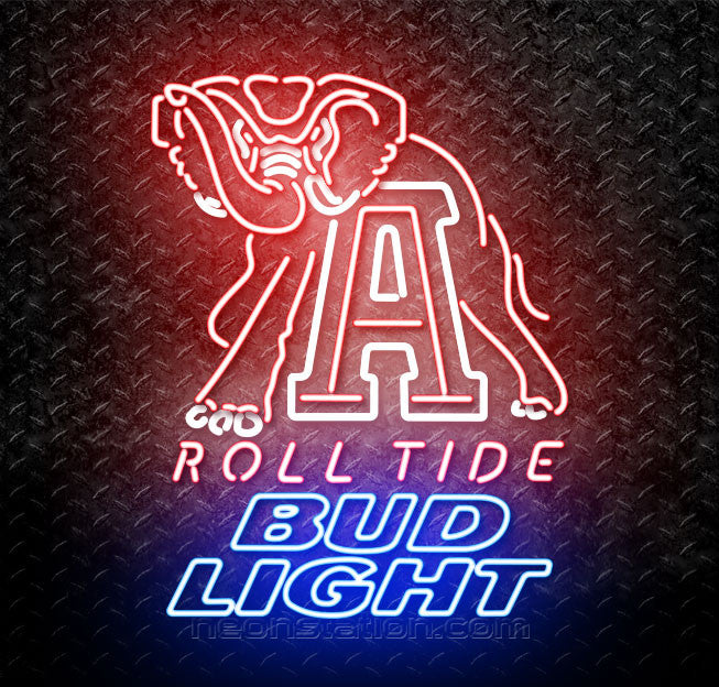 Bud Light Alabama Roll Tide Neon Sign
