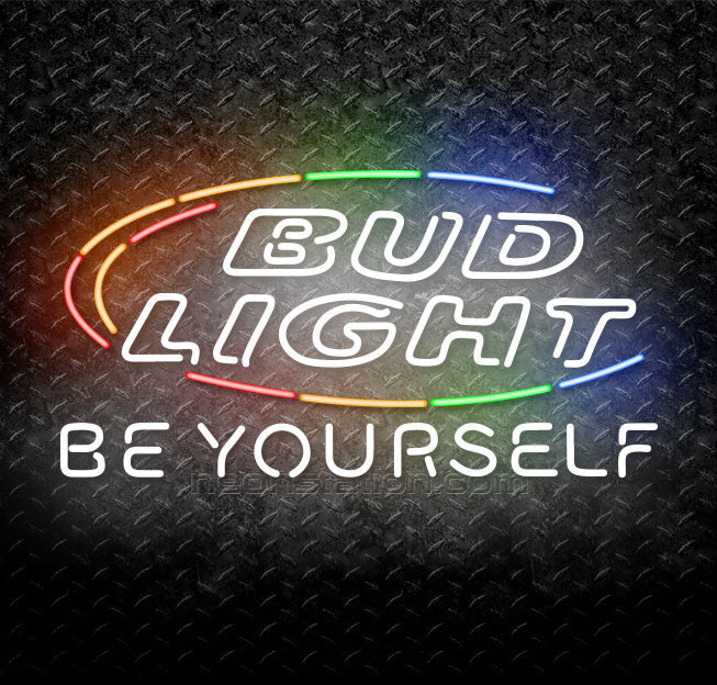 Bud light be yourself neon sign for sale neonstation bud light be yourself neon sign solutioingenieria Choice Image