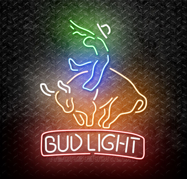 Bud Light Bucking Bull Neon Sign