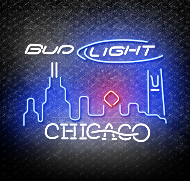Bud Light Chicago City Neon Sign