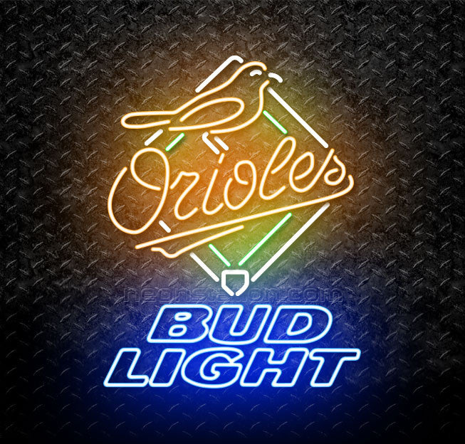Bud Light MLB Baltimore Orioles Neon Sign