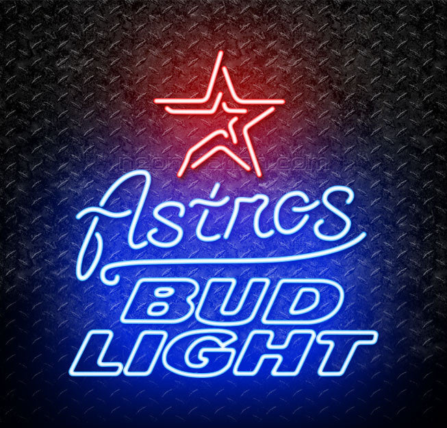 Bud Light MLB Houston Astros Neon Sign
