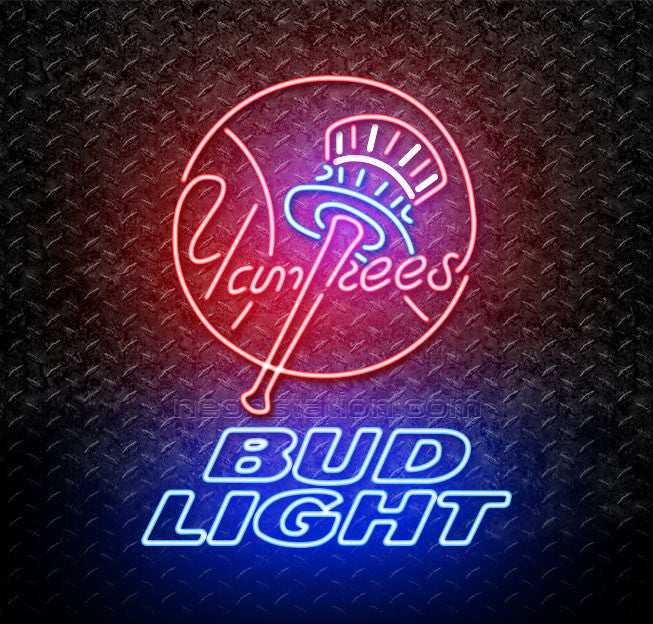 Bud Light MLB New York Yankees Neon Sign
