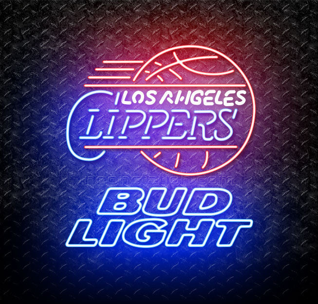 Bud Light NBA Los Angeles Clippers Neon Sign