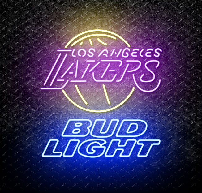 Bud Light NBA Los Angeles Lakers Neon Sign
