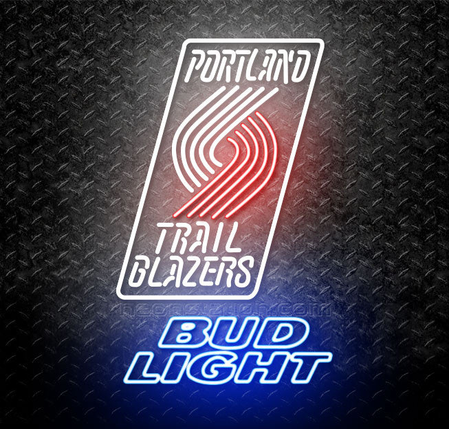 Bud Light NBA Portland Trail Blazers Neon Sign Design