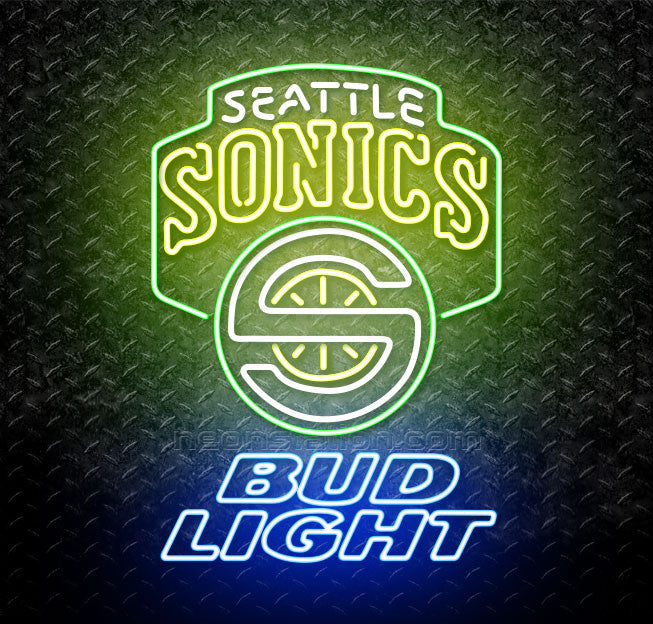 Bud Light NBA Seattle Supersonics Neon Sign