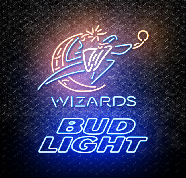 Bud Light NBA Washington Wizards Neon Sign