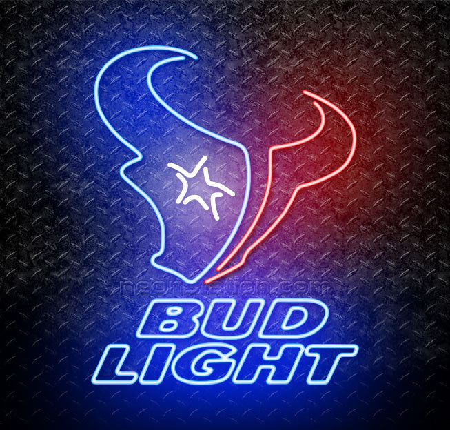 Bud Light NFL Houston Texans Neon Sign