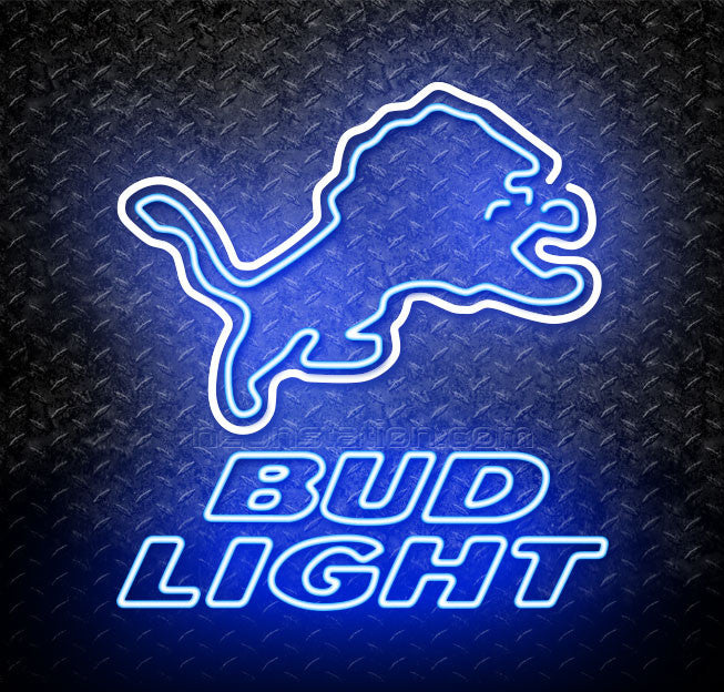 new concept 04027 437ee Bud Light NFL Neon Detroit Lions Neon Sign