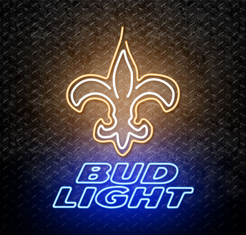Bud Light NFL New Orleans Saints Neon Sign