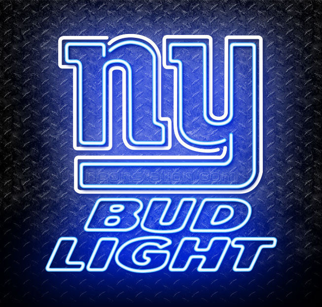 Bud Light NFL New York Giants Neon Sign