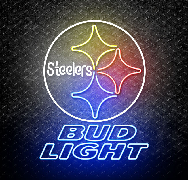 Bud Light NFL Pittsburgh Steelers Neon Sign