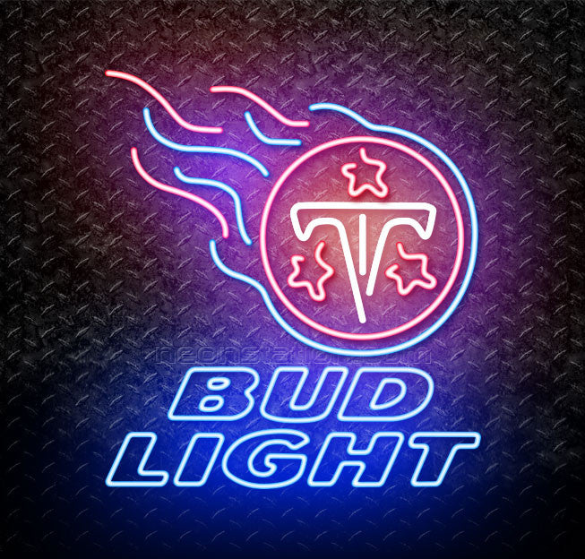 Bud Light NFL Tennessee Titans Neon Sign