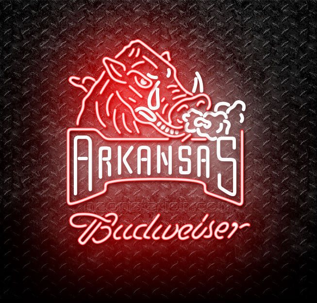 Budweiser Arkansas Razorbacks Neon Sign