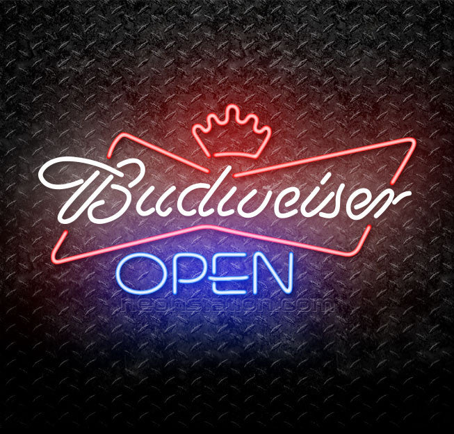 Budweiser Blue Open Neon Sign