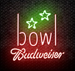 Budweiser Bowling Alley Neon Sign