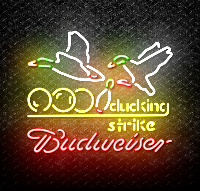 Budweiser Bowling Ducking Strike Neon Sign
