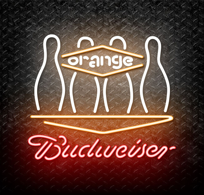 Budweiser Bowling Orange Neon Sign