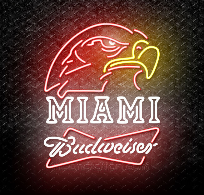 Budweiser Bowtie Miami University Fall Session Neon Sign