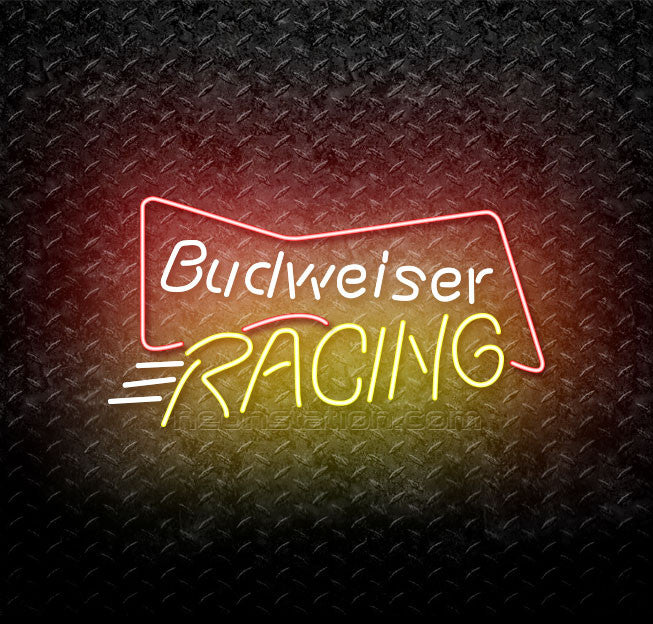 Budweiser Bowtie Racing Neon Sign