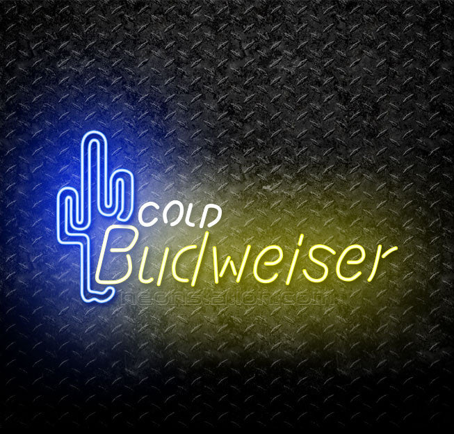 Budweiser Cold Cactus Neon Sign