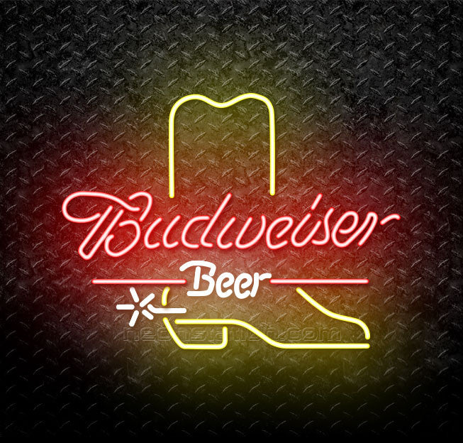 Budweiser Cowboy Boot Neon Sign