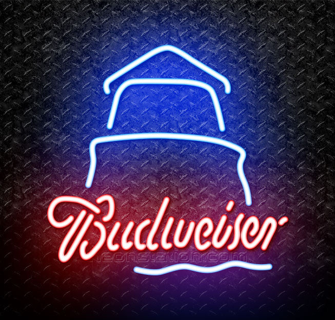 Budweiser Day Lighthouse Neon Sign