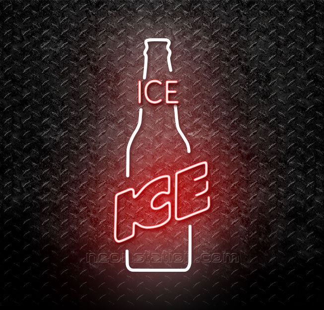Budweiser Ice Bottle Neon Sign