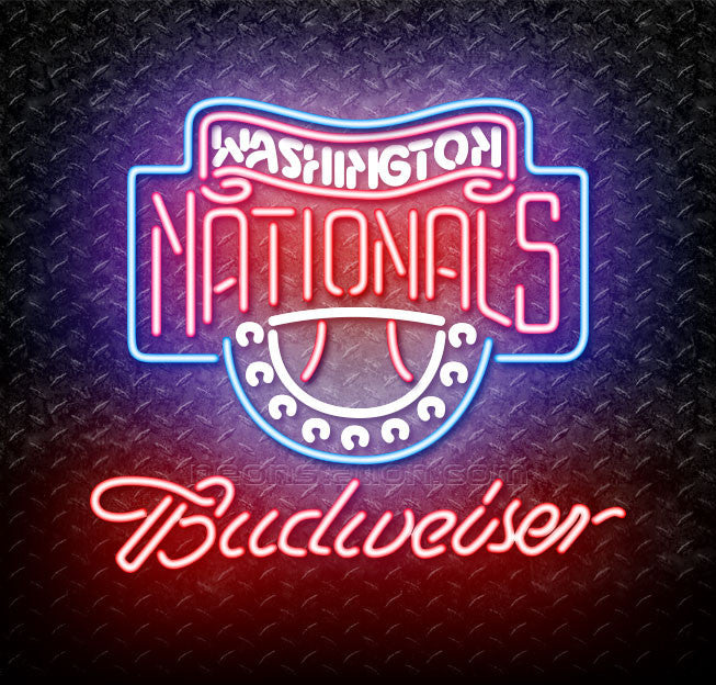 Budweiser MLB Washington Nationals Neon Sign