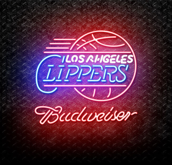 Budweiser NBA Los Angeles Clippers Neon Sign