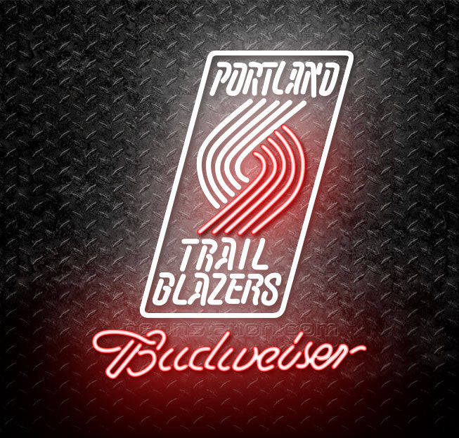 Budweiser NBA Portland Trail Blazers Neon Sign