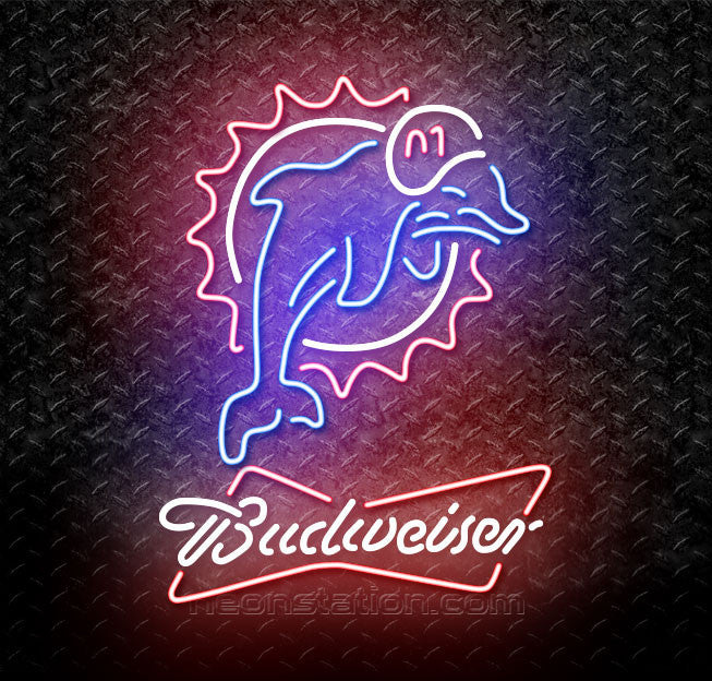 Budweiser NFL Miami Dolphins Neon Sign