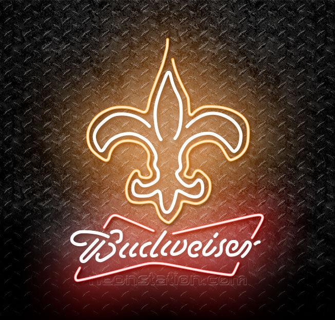 Budweiser NFL New Orleans Saints Neon Sign