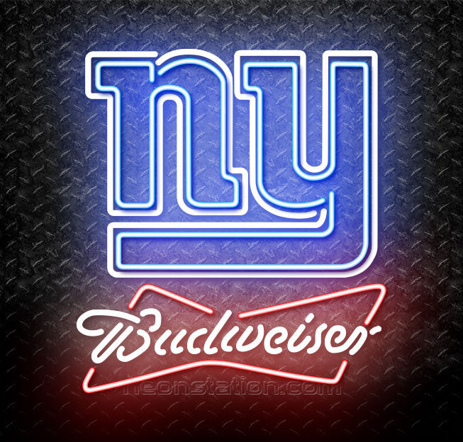 Budweiser NFL New York Giants Neon Sign
