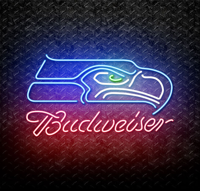 Budweiser NFL Single Line Seattle Seahawks Neon Sign