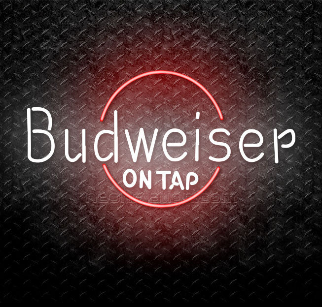 Budweiser On Tap Neon Sign