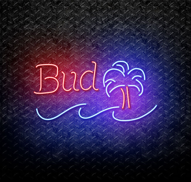 Budweiser Palm Tree Neon Sign