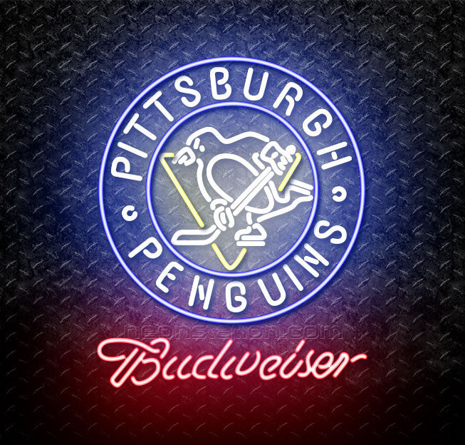 Budweiser Pittsburgh Penguins Neon Sign