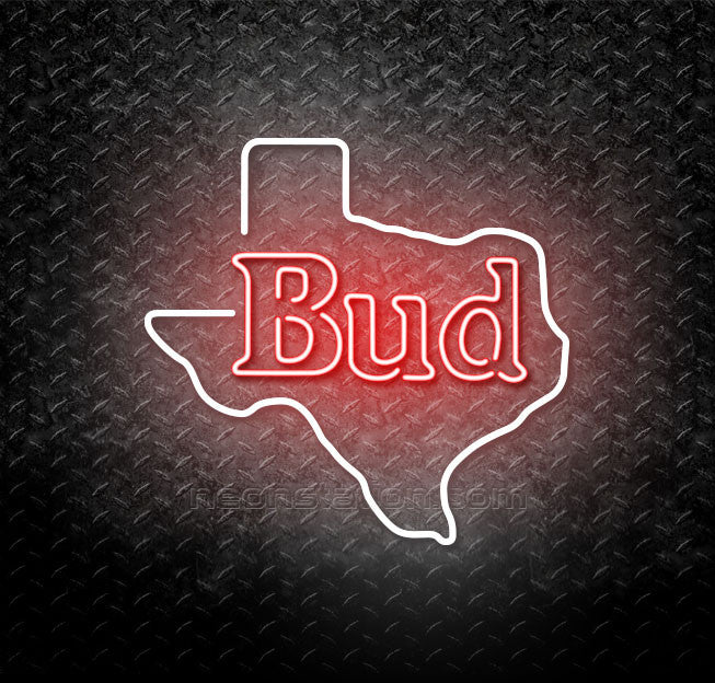 Budweiser Texas State Neon Sign