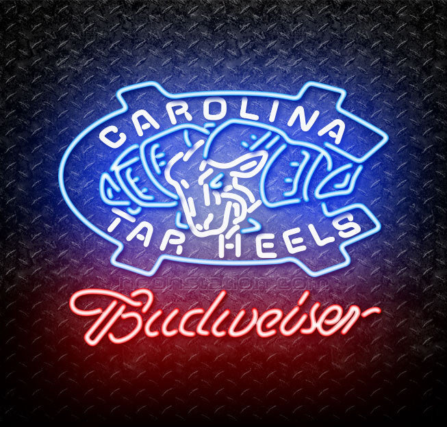 Budweiser Unc North Carolina Tar Heels Neon Sign