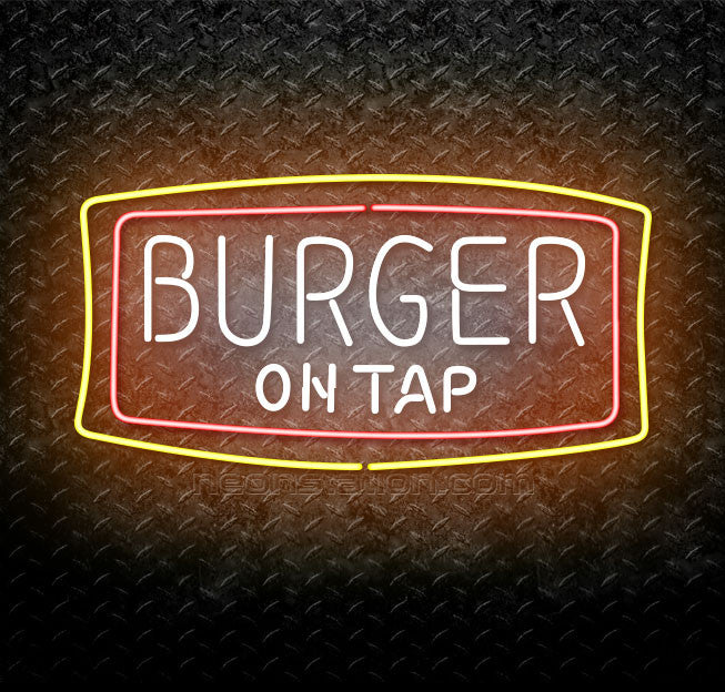 Burger On Tap Neon Sign